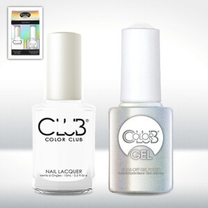 Color Club Gel Duo Pack - FRENCH TIP - 1 Gel Lacuqer 0.5 oz + 1 Lacquer 0.5oz Matching Color (GEL24)