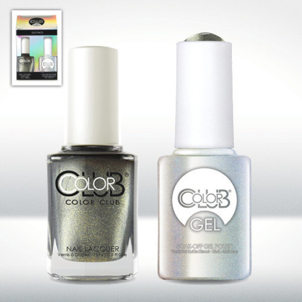Color Club Gel Duo Pack - SNAKESKIN - 1 Gel Lacuqer 0.5 oz + 1 Lacquer 0.5oz Matching Color (GEL901)