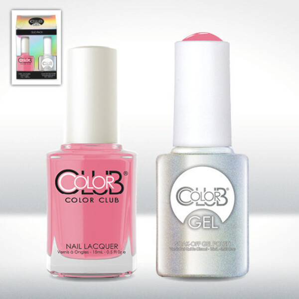 Color Club Gel Duo Pack - SHE'S SOOO GLAM - 1 Gel Lacuqer 0.5 oz + 1 Lacquer 0.5oz Matching Color (GEL885)