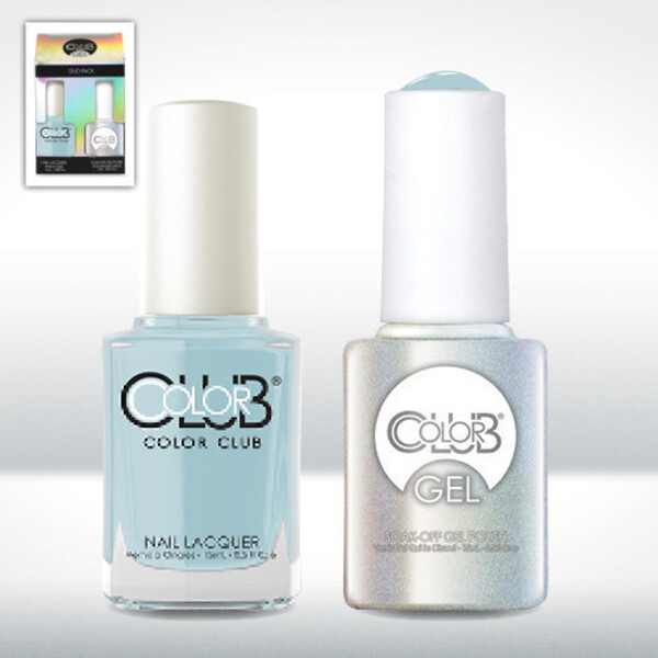 Color Club Gel Duo Pack - TAKE ME TO YOUR CHATEAU - 1 Gel Lacuqer 0.5 oz + 1 Lacquer 0.5oz Matching Color (GEL878)