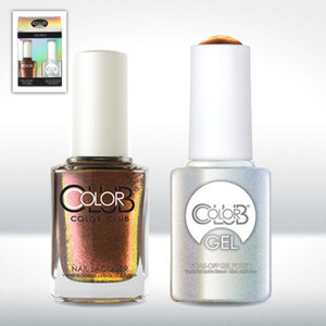 Color Club Gel Duo Pack - WILD AND WILLING - 1 Gel Lacuqer 0.5 oz + 1 Lacquer 0.5oz Matching Color (GEL868)