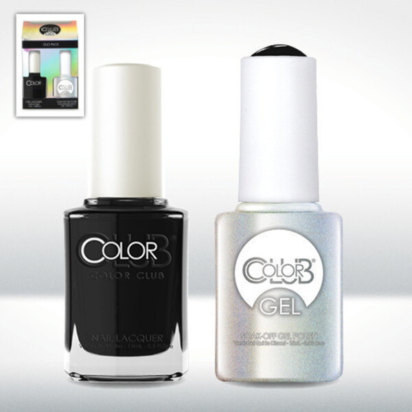 Color Club Gel Duo Pack - WHERE'S THE SOIREE - 1 Gel Lacuqer 0.5 oz + 1 Lacquer 0.5oz Matching Color (GEL854)