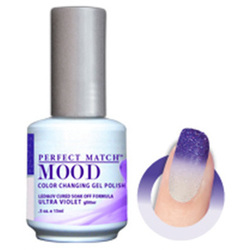 Mood Color Changing Soak Off Gel Polish - ULTRAVIOLET (Glitter) (MPMG47)