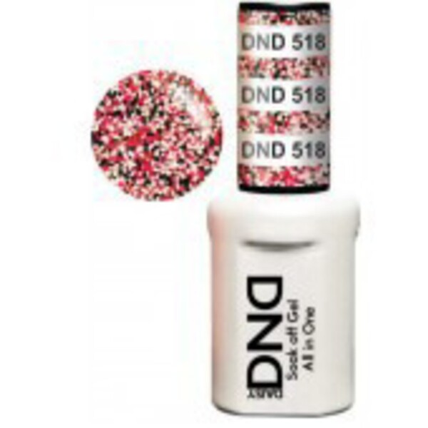 DND Duo GEL Pack - 4 SEASON 1 Gel Polish 0.47 oz. + 1 Lacquer 0.47 oz. in Matching Color (DND-G518)