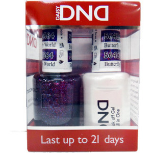 DND Duo GEL Pack - BUTTERFLY WORLD FL 1 Gel Polish 0.47 oz. + 1 Lacquer 0.47 oz. in Matching Color (DND-G564)