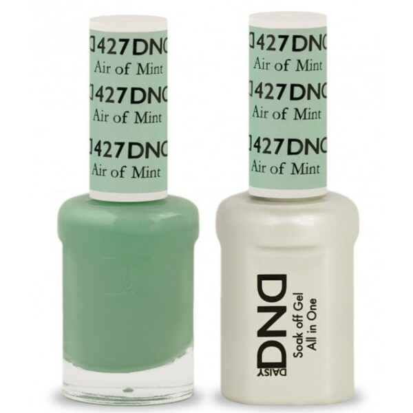 DND Duo GEL Pack - AIR OF MINT 1 Gel Polish 0.47 oz. + 1 Lacquer 0.47 oz. in Matching Color (DND-G427)