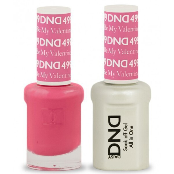 DND Duo GEL Pack - BE MY VALENTINE 1 Gel Polish 0.47 oz. + 1 Lacquer 0.47 oz. in Matching Color (DND-G499)