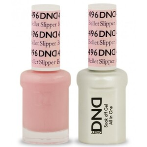 DND Duo GEL Pack - BELLET SLIPPER 1 Gel Polish 0.47 oz. + 1 Lacquer 0.47 oz. in Matching Color (DND-G496)