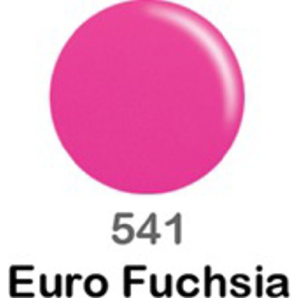 DND Duo GEL Pack - EURO FUCHSIA 1 Gel Polish 0.47 oz. + 1 Lacquer 0.47 oz. in Matching Color (DND-G541)