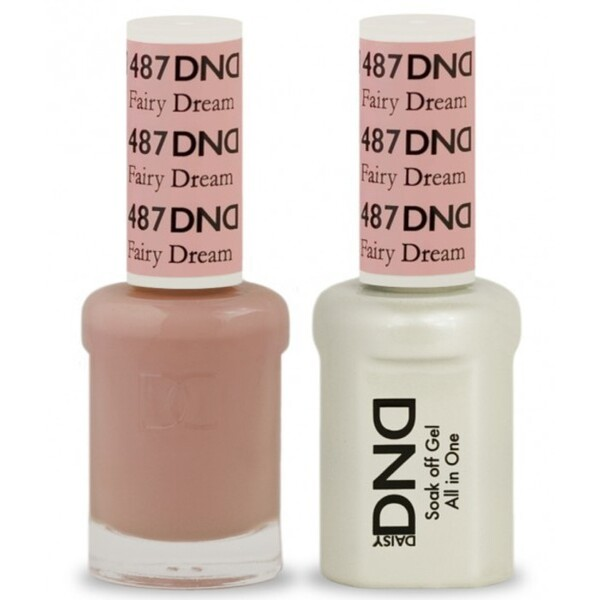 DND Duo GEL Pack - FAIRY DREAM 1 Gel Polish 0.47 oz. + 1 Lacquer 0.47 oz. in Matching Color (DND-G487)