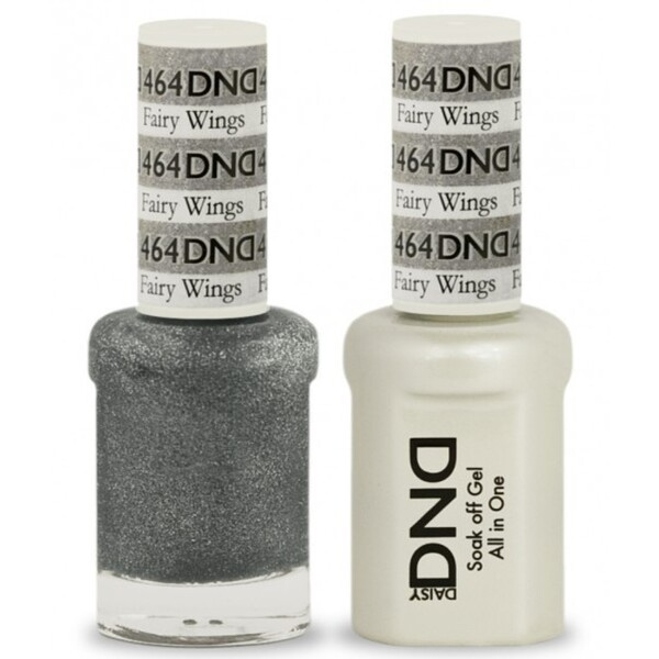 DND Duo GEL Pack - FAIRY WINGS 1 Gel Polish 0.47 oz. + 1 Lacquer 0.47 oz. in Matching Color (DND-G464)