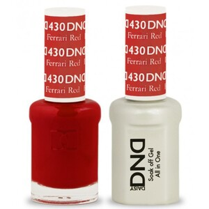 DND Duo GEL Pack - FERRARI RED 1 Gel Polish 0.47 oz. + 1 Lacquer 0.47 oz. in Matching Color (DND-G430)