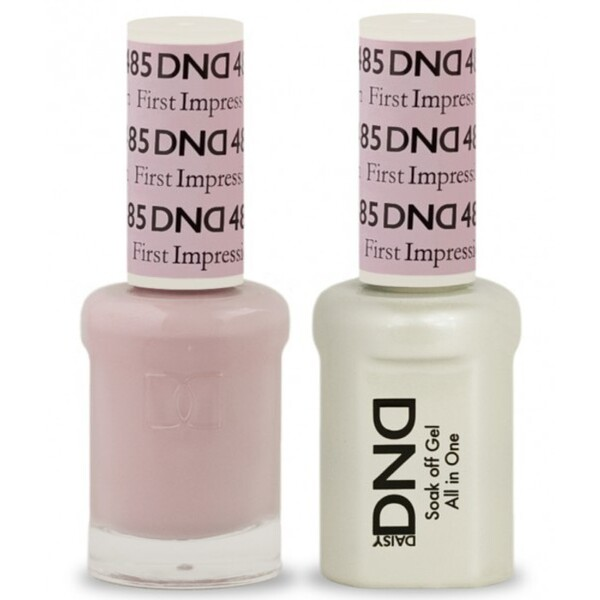 DND Duo GEL Pack - FIRST IMPRESSION 1 Gel Polish 0.47 oz. + 1 Lacquer 0.47 oz. in Matching Color (DND-G485)
