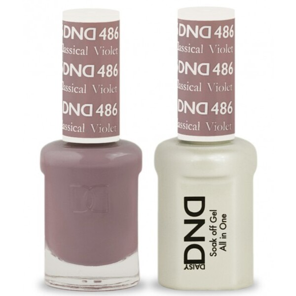 DND Duo GEL Pack - CLASSICAL VIOLET 1 Gel Polish 0.47 oz. + 1 Lacquer 0.47 oz. in Matching Color (DND-G486)