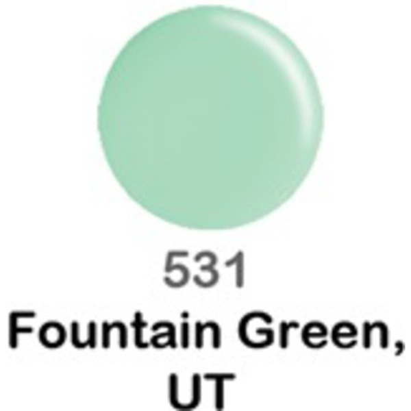 DND Duo GEL Pack - FOUNTAIN GREEN UT 1 Gel Polish 0.47 oz. + 1 Lacquer 0.47 oz. in Matching Color (DND-G531)