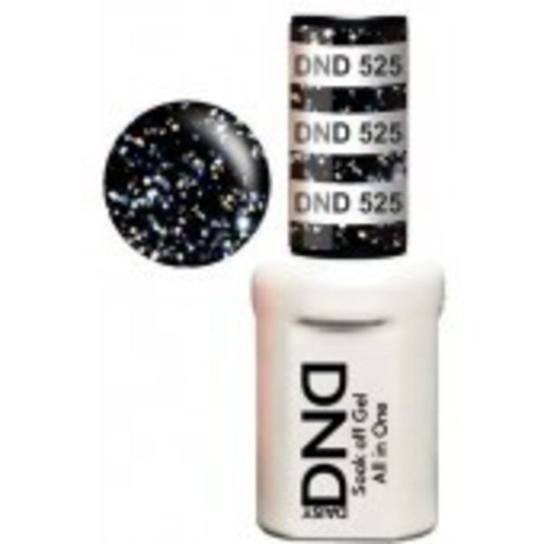 DND Duo GEL Pack - DARK SKY LIGHT 1 Gel Polish 0.47 oz. + 1 Lacquer 0.47 oz. in Matching Color (DND-G525)