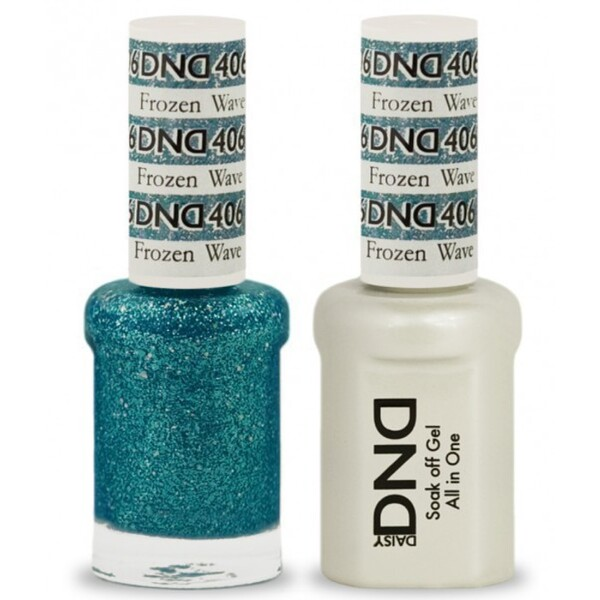 DND Duo GEL Pack - FROZEN WAVE 1 Gel Polish 0.47 oz. + 1 Lacquer 0.47 oz. in Matching Color (DND-G406)
