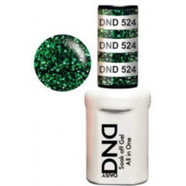 DND Duo GEL Pack - GREEN TO GREEN 1 Gel Polish 0.47 oz. + 1 Lacquer 0.47 oz. in Matching Color (DND-G524)