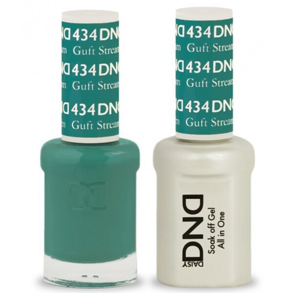 DND Duo GEL Pack - GULF STREAM 1 Gel Polish 0.47 oz. + 1 Lacquer 0.47 oz. in Matching Color (DND-G434)