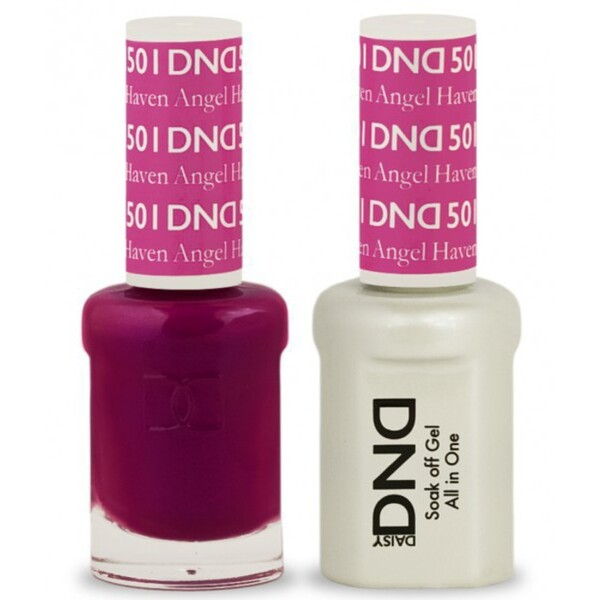 DND Duo GEL Pack - HAVEN ANGEL 1 Gel Polish 0.47 oz. + 1 Lacquer 0.47 oz. in Matching Color (DND-G501)