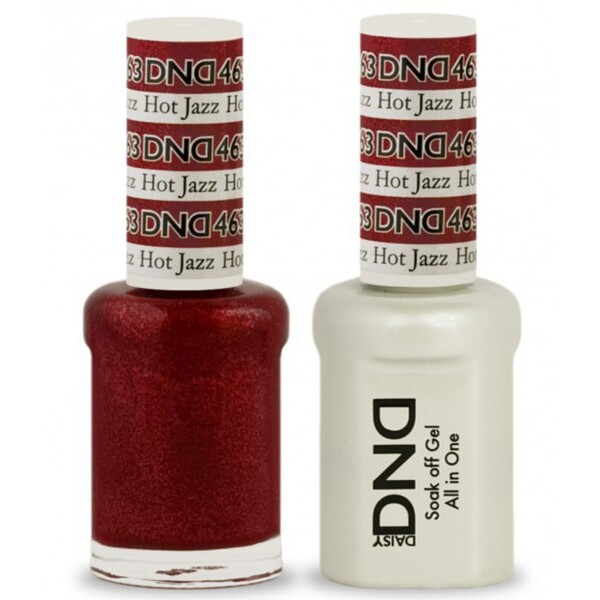 DND Duo GEL Pack - HOT JAZZ 1 Gel Polish 0.47 oz. + 1 Lacquer 0.47 oz. in Matching Color (DND-G463)
