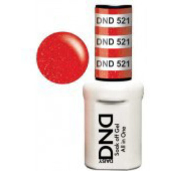 DND Duo GEL Pack - ICE BERRY COCKTAIL 1 Gel Polish 0.47 oz. + 1 Lacquer 0.47 oz. in Matching Color (DND-G521)