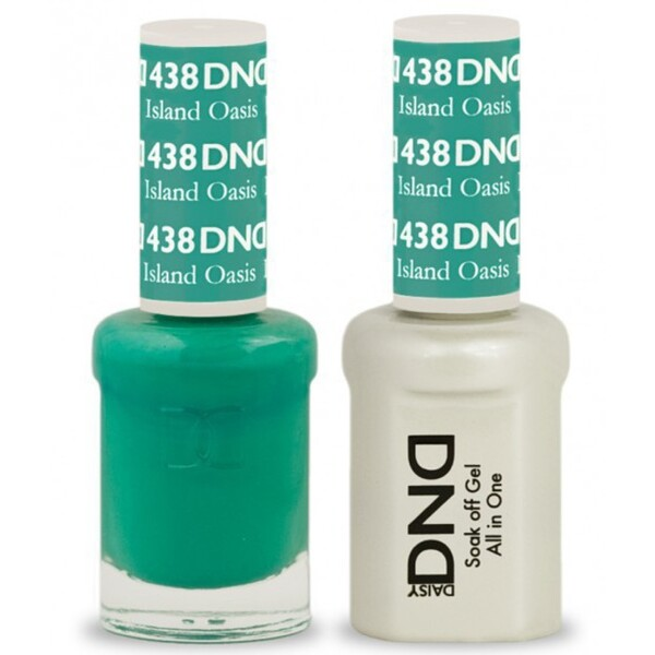DND Duo GEL Pack - ISLAND OASIS 1 Gel Polish 0.47 oz. + 1 Lacquer 0.47 oz. in Matching Color (DND-G438)
