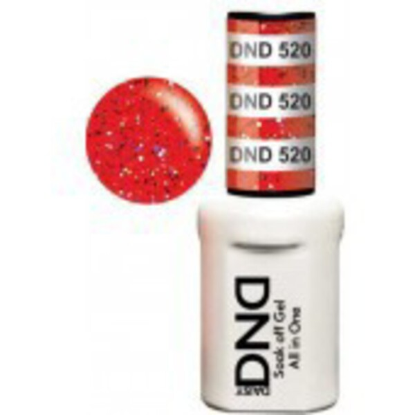 DND Duo GEL Pack - KOOL BERRY 1 Gel Polish 0.47 oz. + 1 Lacquer 0.47 oz. in Matching Color (DND-G520)