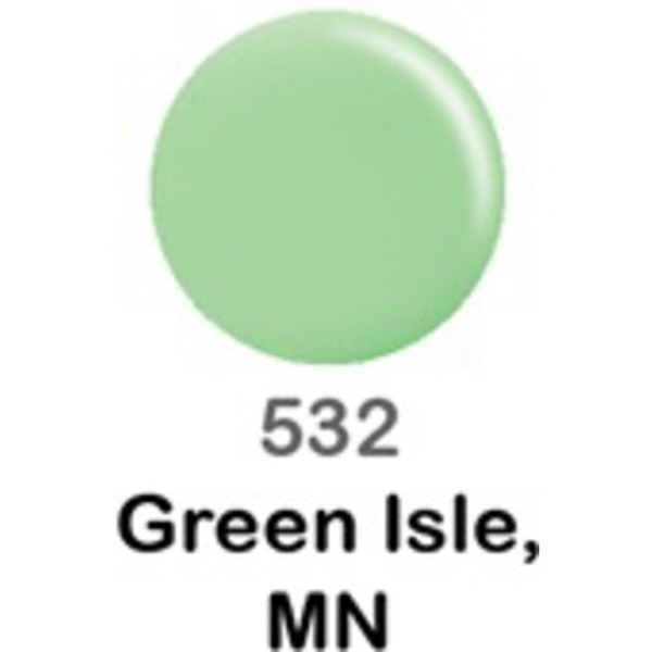 DND Duo GEL Pack - GREEN ISLE MN 1 Gel Polish 0.47 oz. + 1 Lacquer 0.47 oz. in Matching Color (DND-G532)