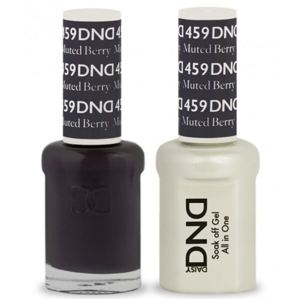DND Duo GEL Pack - MUTED BERRY 1 Gel Polish 0.47 oz. + 1 Lacquer 0.47 oz. in Matching Color (DND-G459)