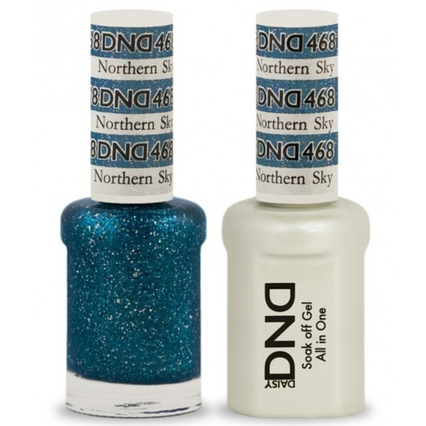 DND Duo GEL Pack - NORTHERN SKY 1 Gel Polish 0.47 oz. + 1 Lacquer 0.47 oz. in Matching Color (DND-G468)