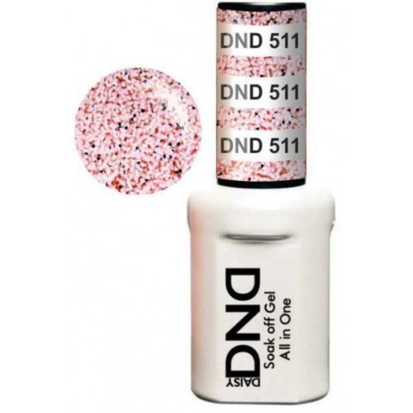 DND Duo GEL Pack - NUDE SPARKLE 1 Gel Polish 0.47 oz. + 1 Lacquer 0.47 oz. in Matching Color (DND-G511)