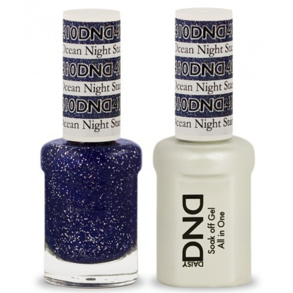 DND Duo GEL Pack - OCEAN NIGHT STAR 1 Gel Polish 0.47 oz. + 1 Lacquer 0.47 oz. in Matching Color (DND-G410)