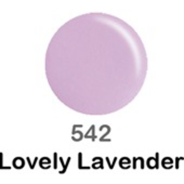 DND Duo GEL Pack - LOVELY LAVENDER 1 Gel Polish 0.47 oz. + 1 Lacquer 0.47 oz. in Matching Color (DND-G542)