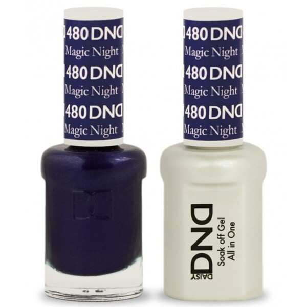 DND Duo GEL Pack - MAGIC NIGHT 1 Gel Polish 0.47 oz. + 1 Lacquer 0.47 oz. in Matching Color (DND-G480)