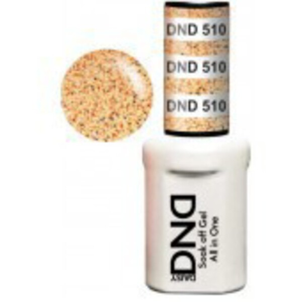 DND Duo GEL Pack - PEACH CIDER 1 Gel Polish 0.47 oz. + 1 Lacquer 0.47 oz. in Matching Color (DND-G510)