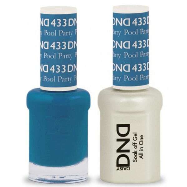 DND Duo GEL Pack - POOL PARTY 1 Gel Polish 0.47 oz. + 1 Lacquer 0.47 oz. in Matching Color (DND-G433)