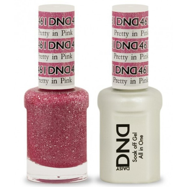 DND Duo GEL Pack - PRETTY IN PINK 1 Gel Polish 0.47 oz. + 1 Lacquer 0.47 oz. in Matching Color (DND-G461)