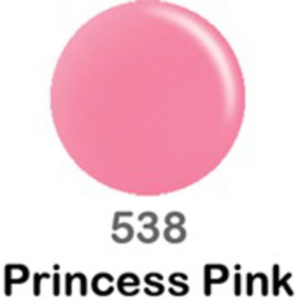 DND Duo GEL Pack - PRINCESS PINK 1 Gel Polish 0.47 oz. + 1 Lacquer 0.47 oz. in Matching Color (DND-G538)