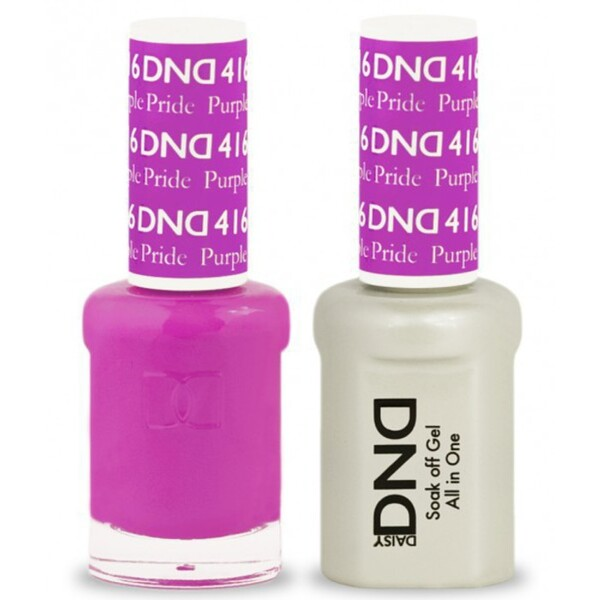 DND Duo GEL Pack - PURPLE PRIDE 1 Gel Polish 0.47 oz. + 1 Lacquer 0.47 oz. in Matching Color (DND-G416)