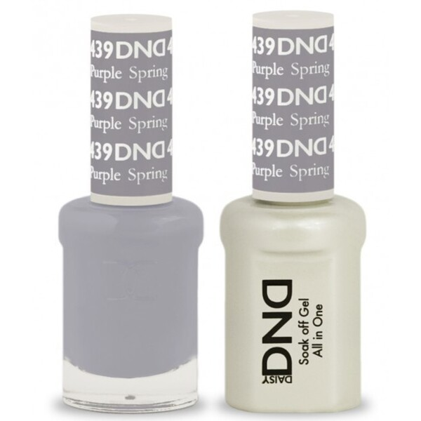 DND Duo GEL Pack - PURPLE SPRING 1 Gel Polish 0.47 oz. + 1 Lacquer 0.47 oz. in Matching Color (DND-G439)