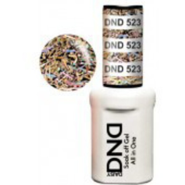 DND Duo GEL Pack - RAINBOW DAY 1 Gel Polish 0.47 oz. + 1 Lacquer 0.47 oz. in Matching Color (DND-G523)