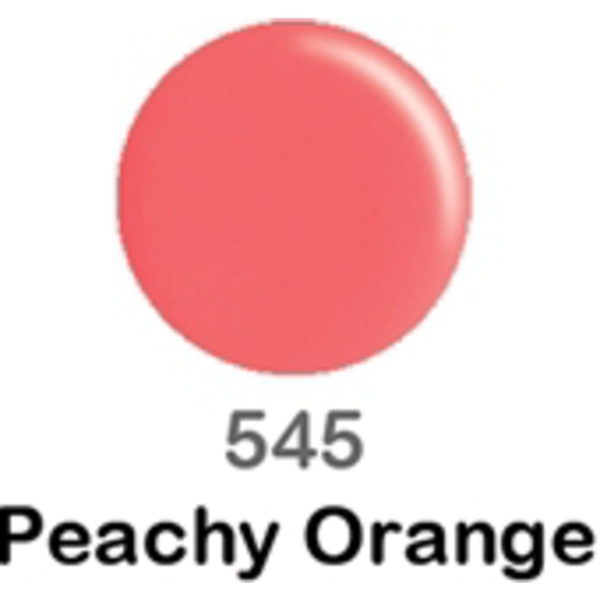DND Duo GEL Pack - PEACHY ORANGE 1 Gel Polish 0.47 oz. + 1 Lacquer 0.47 oz. in Matching Color (DND-G545)