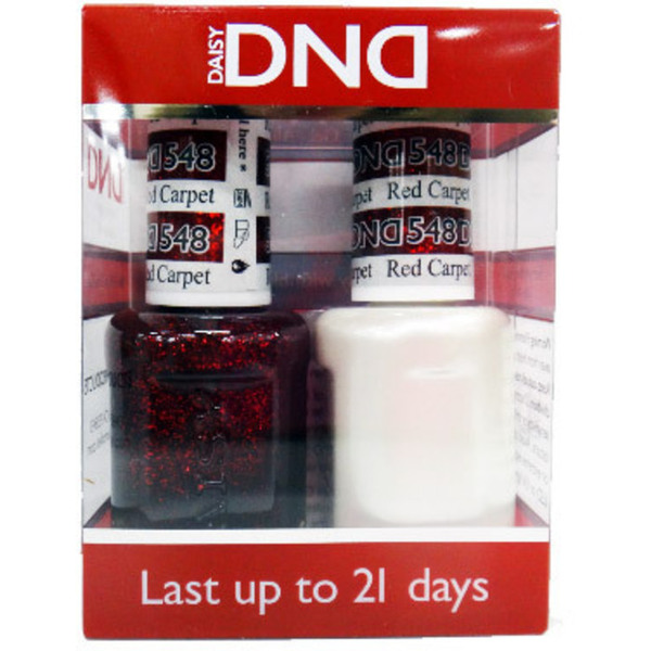 DND Duo GEL Pack - RED CARPET 1 Gel Polish 0.47 oz. + 1 Lacquer 0.47 oz. in Matching Color (DND-G548)
