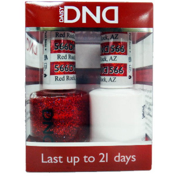 DND Duo GEL Pack - RED ROCK AZ 1 Gel Polish 0.47 oz. + 1 Lacquer 0.47 oz. in Matching Color (DND-G566)