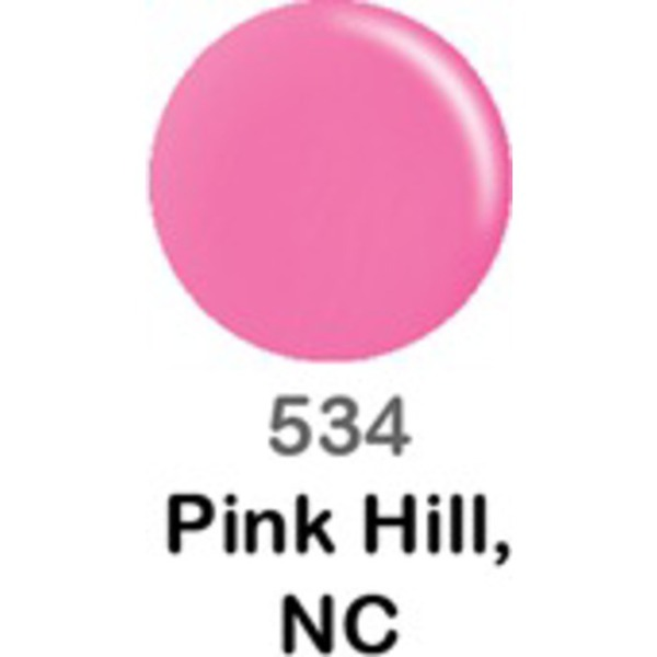 DND Duo GEL Pack - PINK HILL NC 1 Gel Polish 0.47 oz. + 1 Lacquer 0.47 oz. in Matching Color (DND-G534)