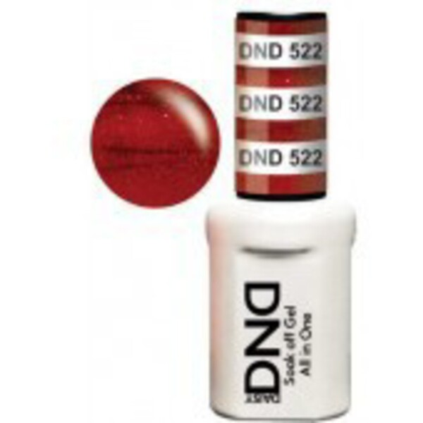 DND Duo GEL Pack - POMEGRANATE 1 Gel Polish 0.47 oz. + 1 Lacquer 0.47 oz. in Matching Color (DND-G522)