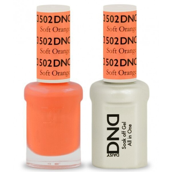 DND Duo GEL Pack - SOFT ORANGE 1 Gel Polish 0.47 oz. + 1 Lacquer 0.47 oz. in Matching Color (DND-G502)