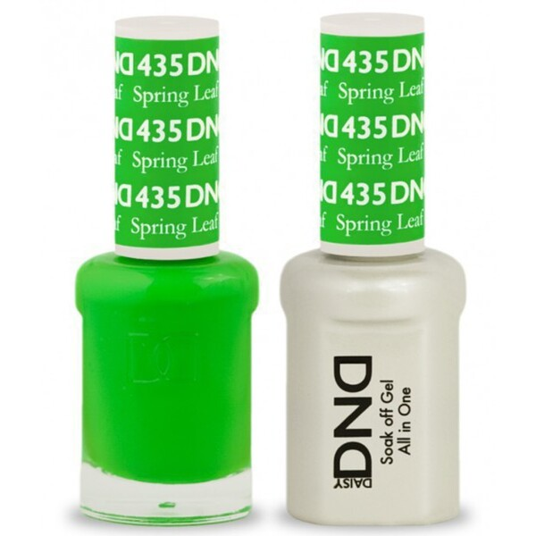 DND Duo GEL Pack - SPRING LEAF 1 Gel Polish 0.47 oz. + 1 Lacquer 0.47 oz. in Matching Color (DND-G435)