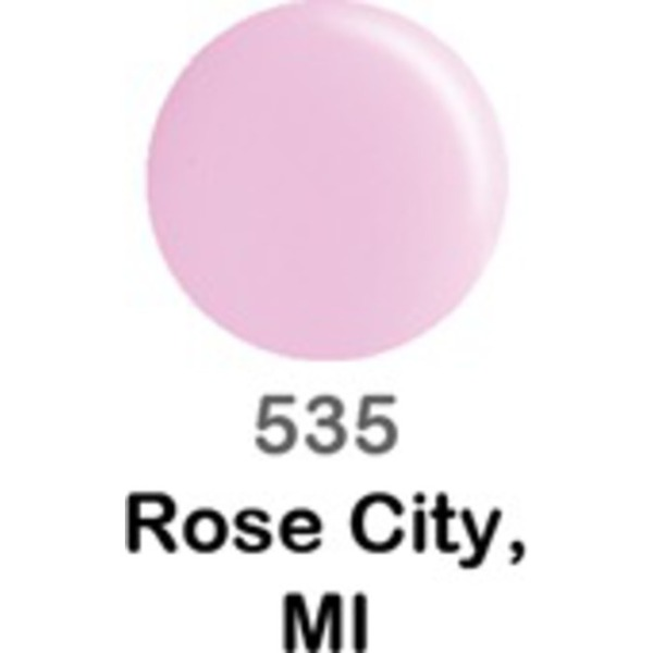 DND Duo GEL Pack - ROSE CITY MI 1 Gel Polish 0.47 oz. + 1 Lacquer 0.47 oz. in Matching Color (DND-G535)